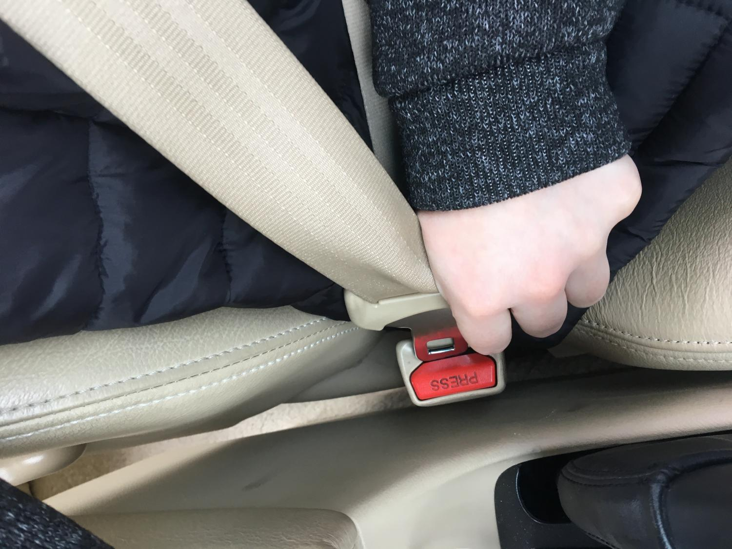 Paschal student buckles up.