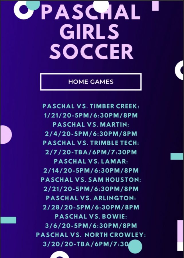 Girls Winter Soccer Schedule