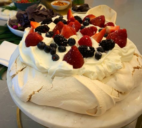 Pavlova, the perfect winter dessert.