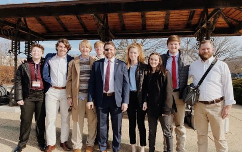 "The group of Juniors of the Washington D.C Close Up and Mr. Brooks, meet Representative Dan Crenshaw. ""It was surreal seeing someone that I normally see on tv or on Instagram in real life,"