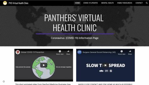 La página de inicio de la clínica de salud virtual de Paschal.