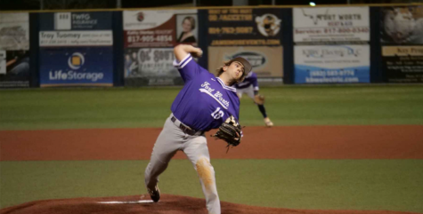 Connor Culp pitching at the Paschal vs Heights baseball game during the Drew Medford Memorial Tournament.