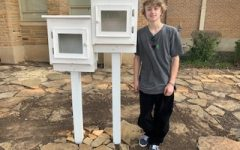 Kerby McCracken,senior, built the Free Library stuctures as part of his work to obtain the rank of Eagle Scout. The library is located on the campus of McLean 6th grade center.